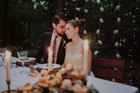 Forest wedding photoshoot - free stock photo