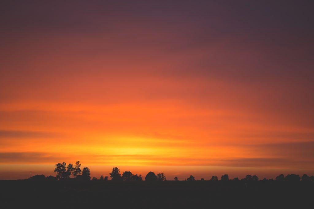 Late sunset - free stock photo