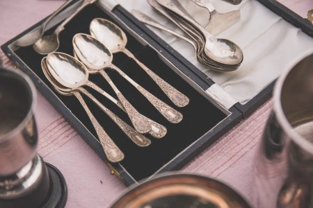 Old tea spoons - free stock photo