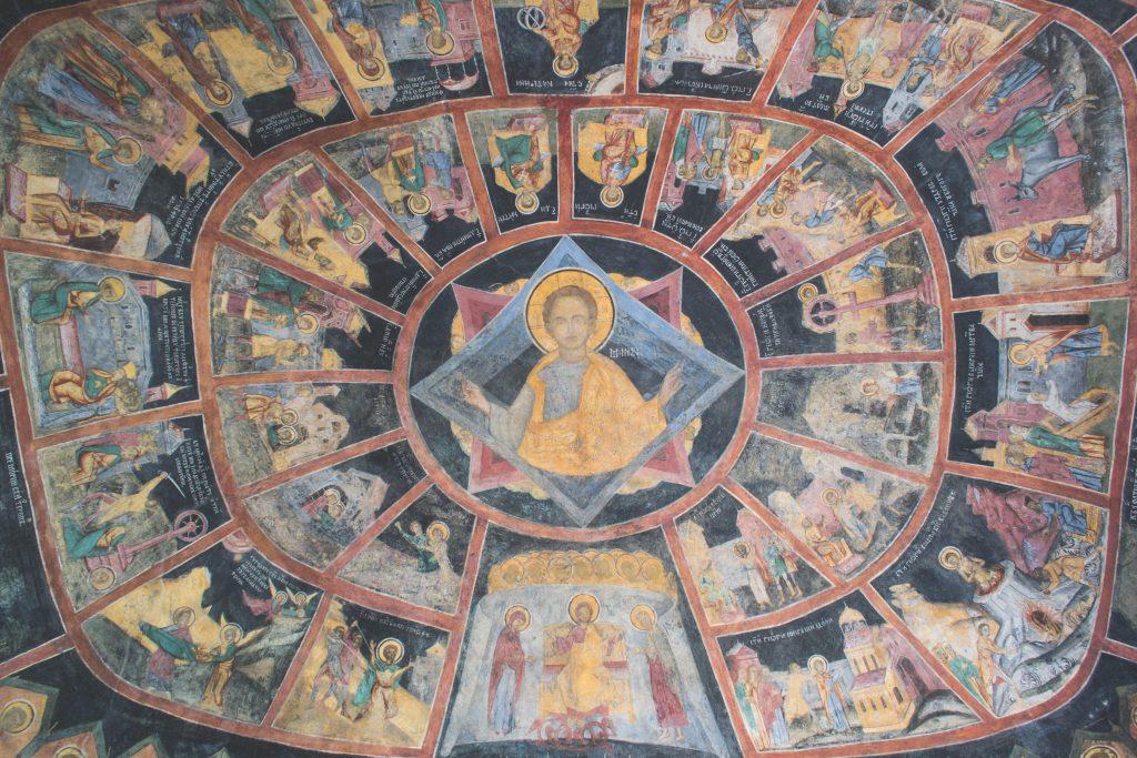 Orthodox church ceiling - free stock photo