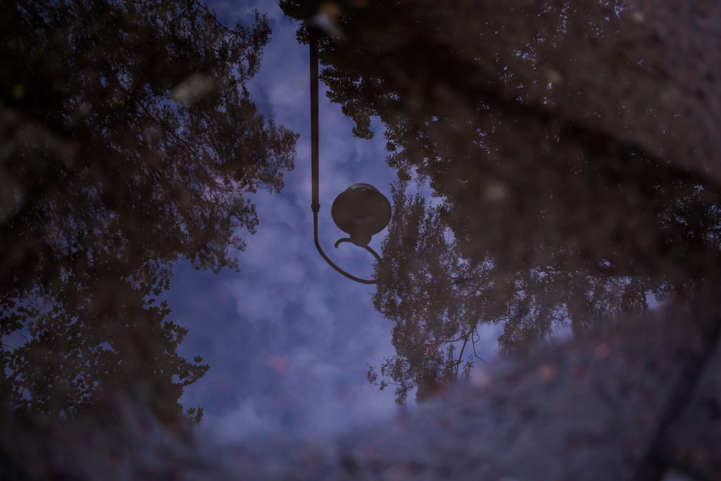 Reflection in the puddle 3 - free stock photo