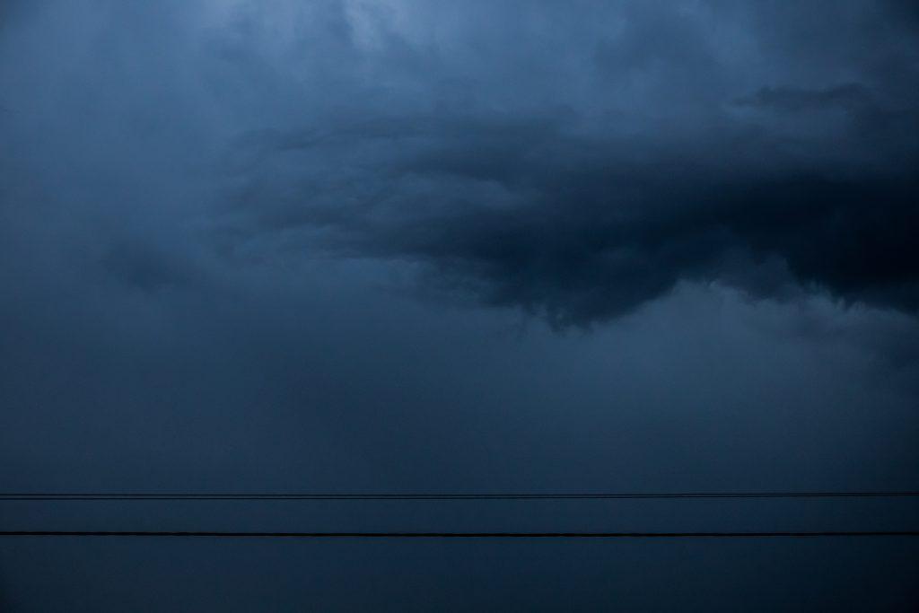 Stormy sky - free stock photo
