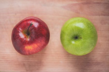 Two apples - free stock photo