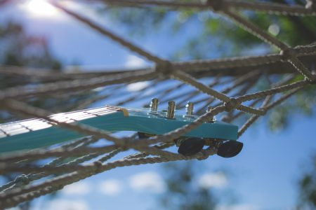 Ukulele on a hammock 4 - free stock photo