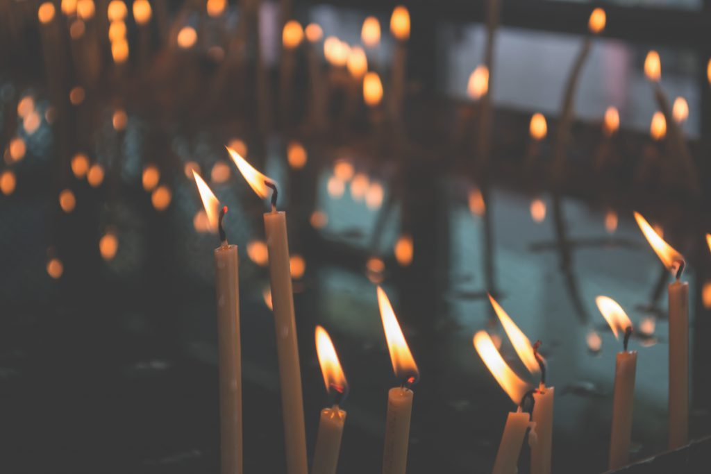 Votive candles - free stock photo