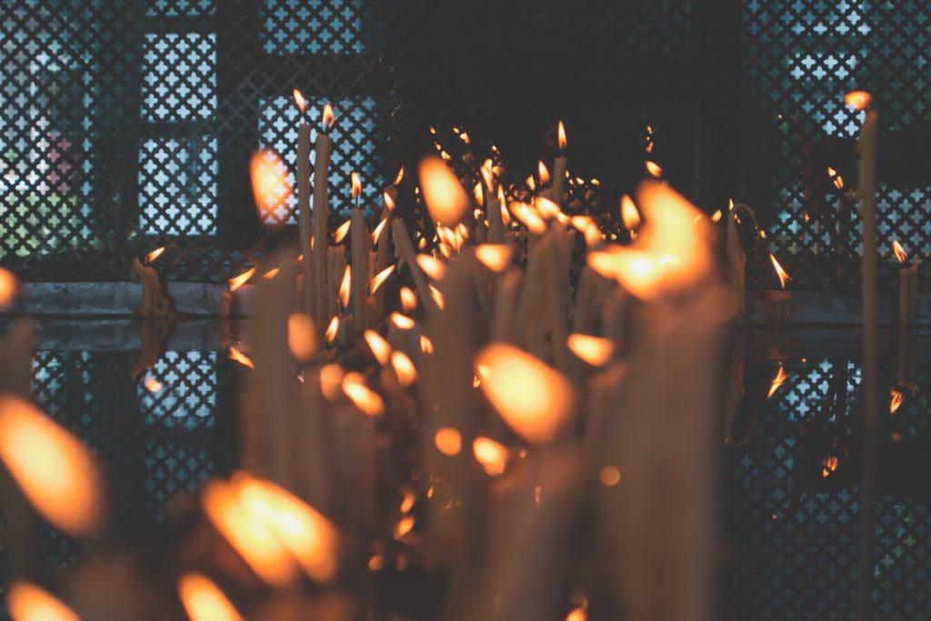 Votive candles 2 - free stock photo