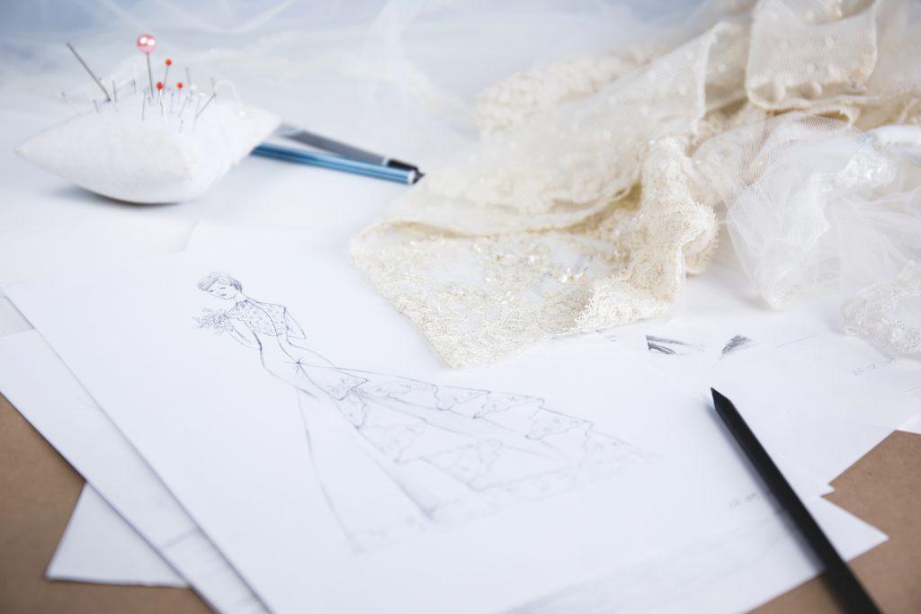 Wedding dress sketch 2 - free stock photo