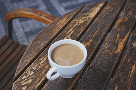 White coffee on the table 2 - free stock photo