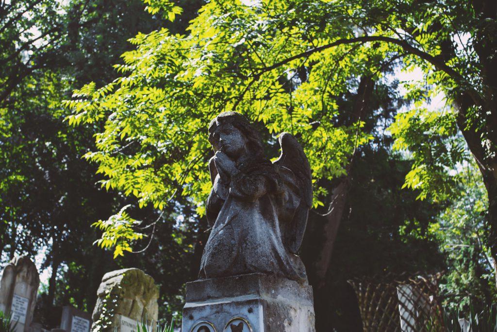 Angel tombstone - free stock photo