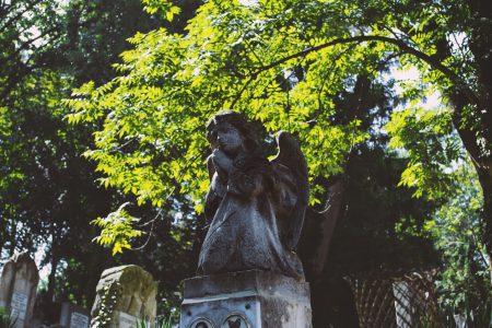 Angel tombstone - free stock photo