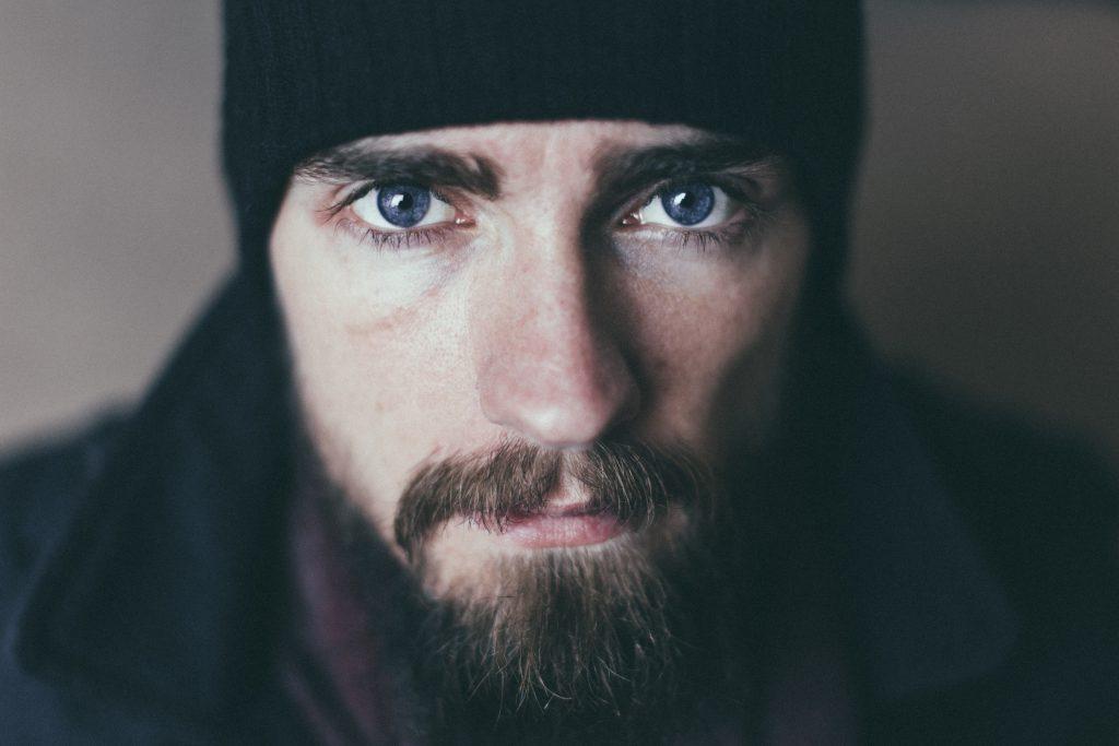 Bearded man en face - free stock photo