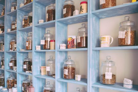 Blue tea cupboard 2 - free stock photo