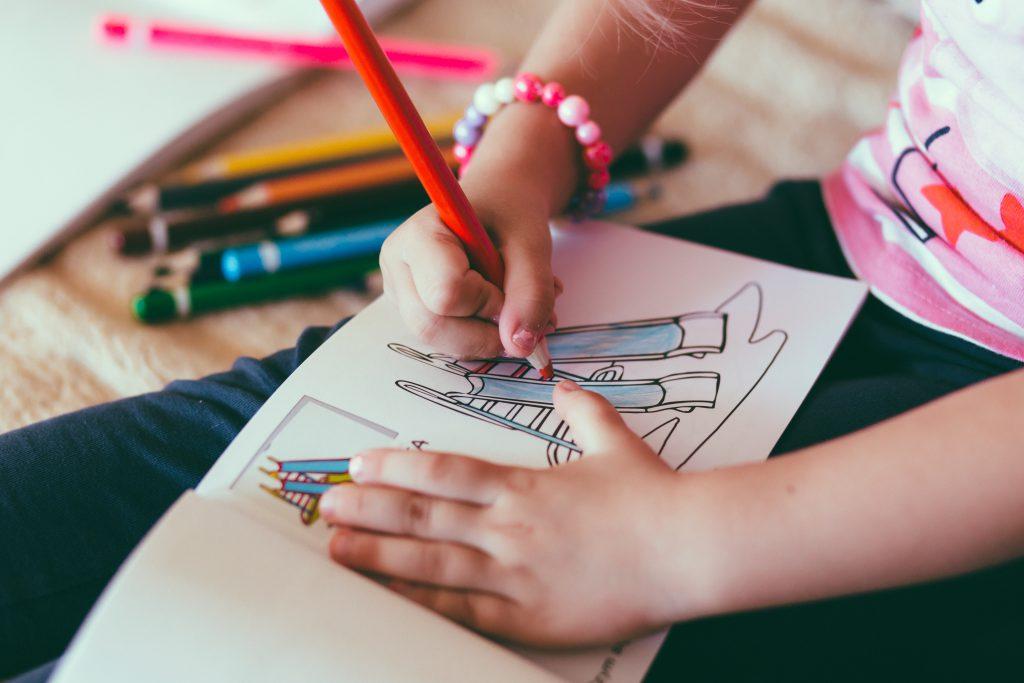 Child drawing - free stock photo
