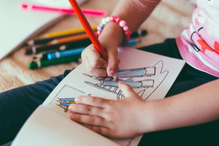 Child drawing - free stock photo