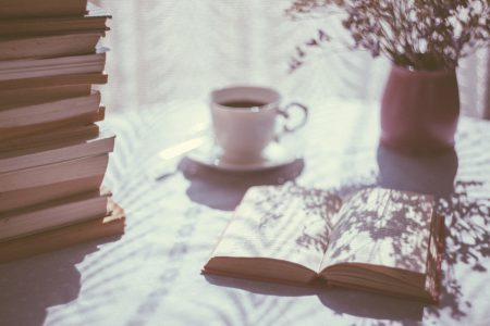 Coffee and books - free stock photo