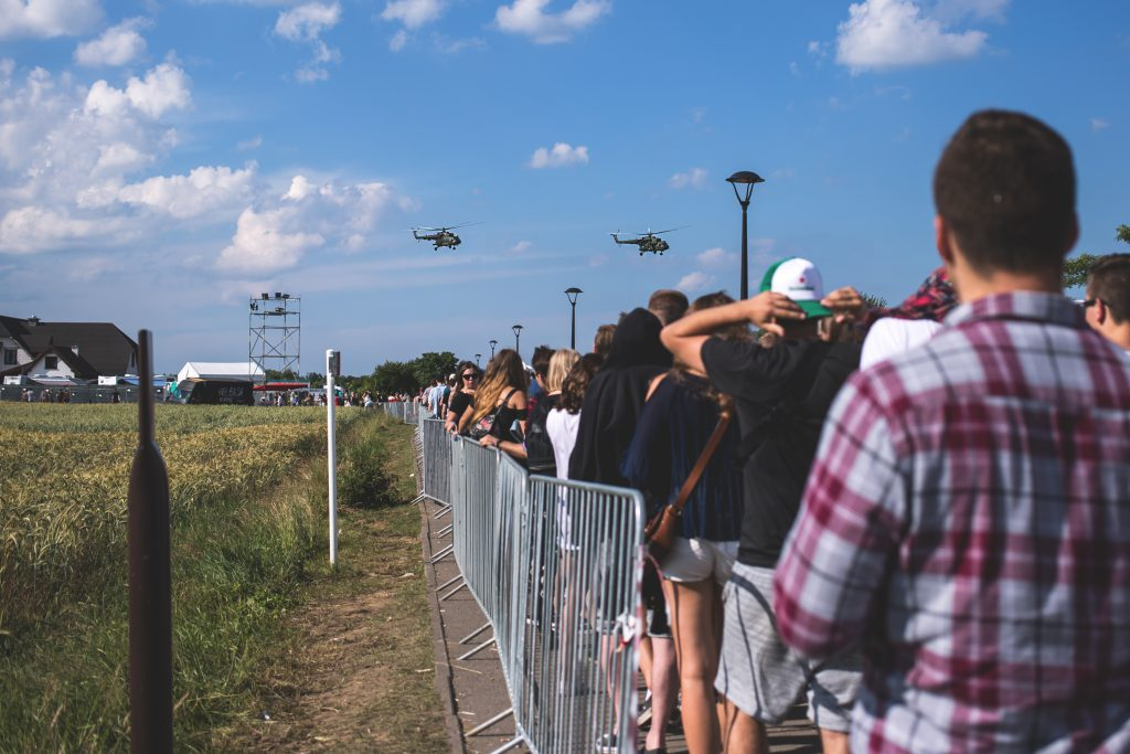 Crowd control fence - free stock photo