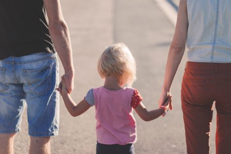 Family holding hands - free stock photo
