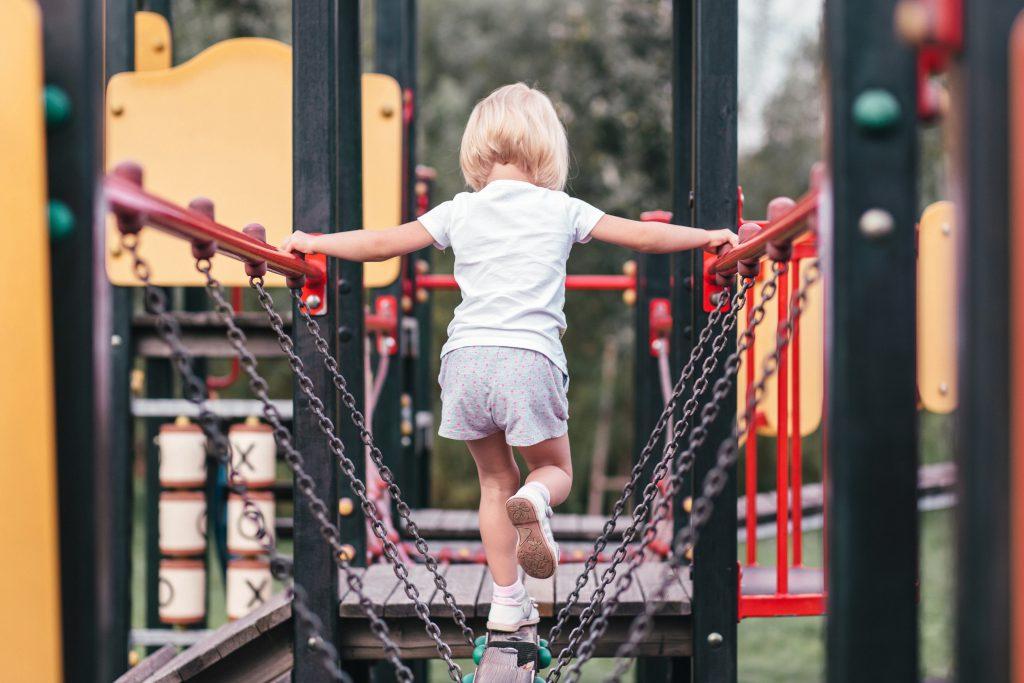 Girl at the playground - free stock photo