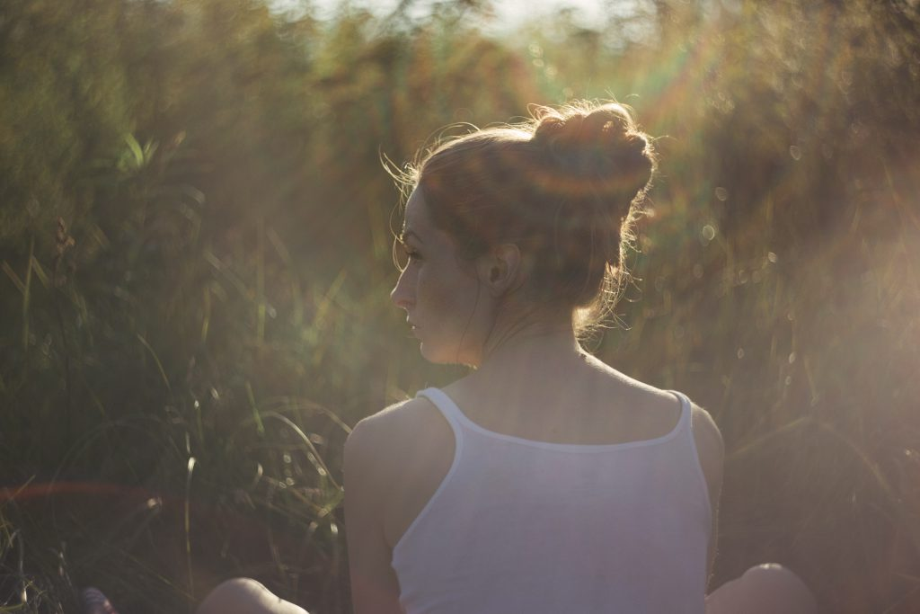 Girl in the rays of sun - free stock photo
