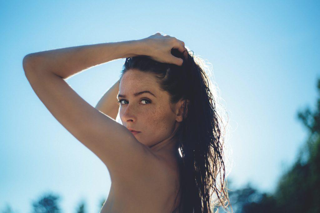 Posing girl - free stock photo