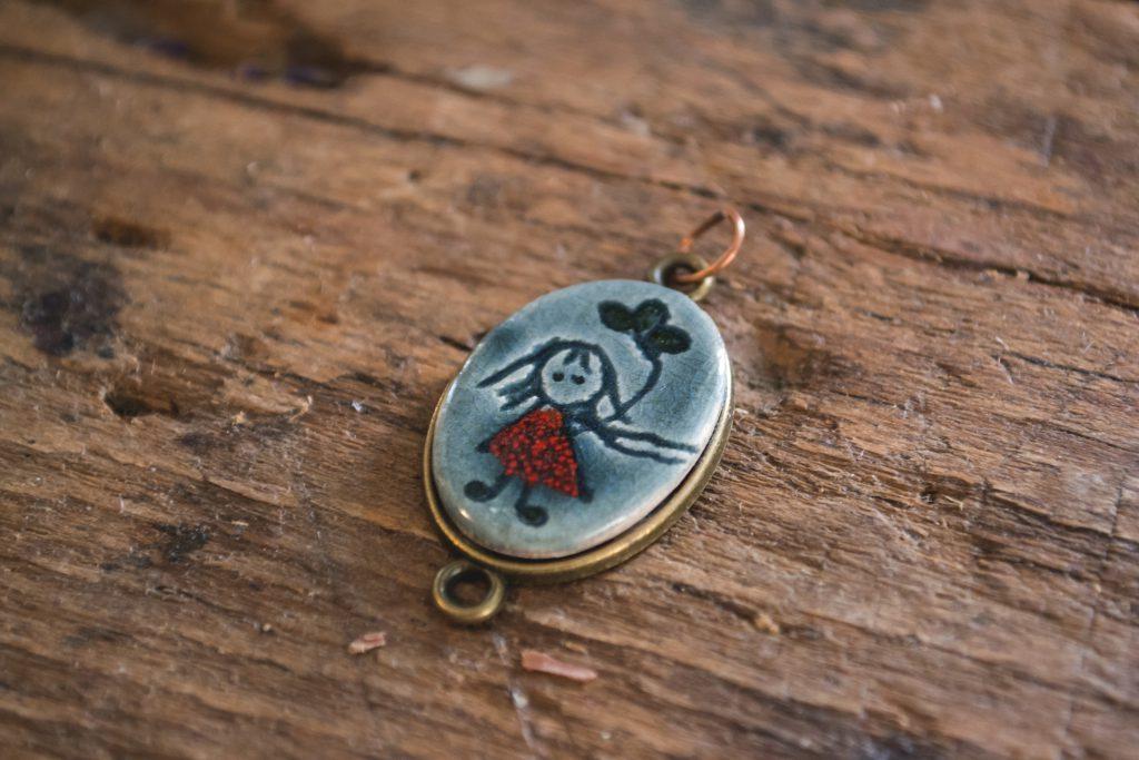 Handmade necklace - free stock photo