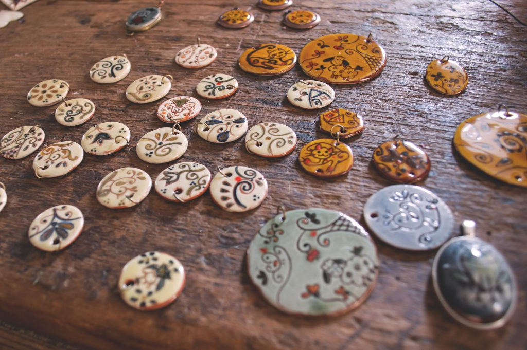 Handmade pendants - free stock photo