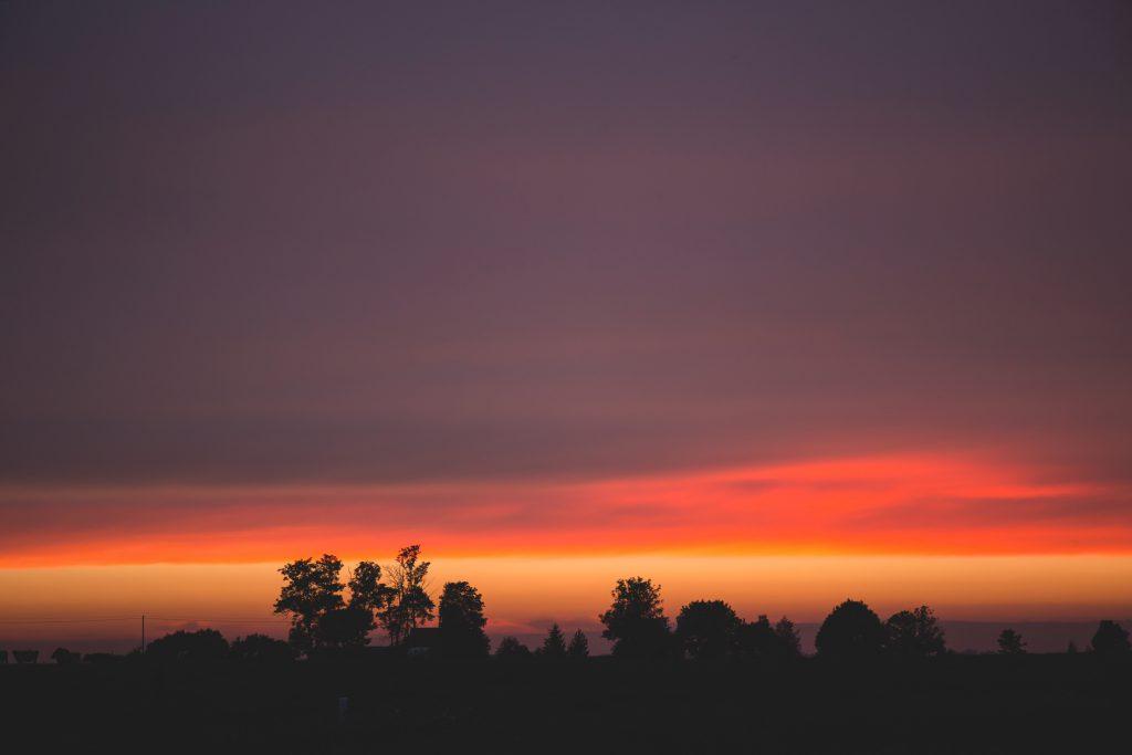 Late sunset 2 - free stock photo