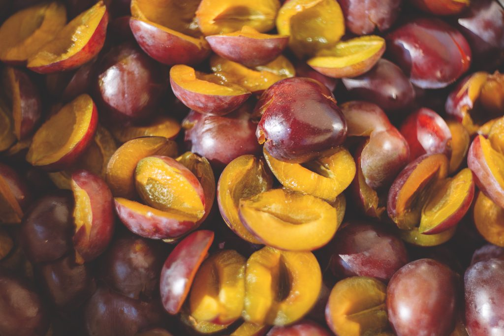 Stoned plums 2 - free stock photo