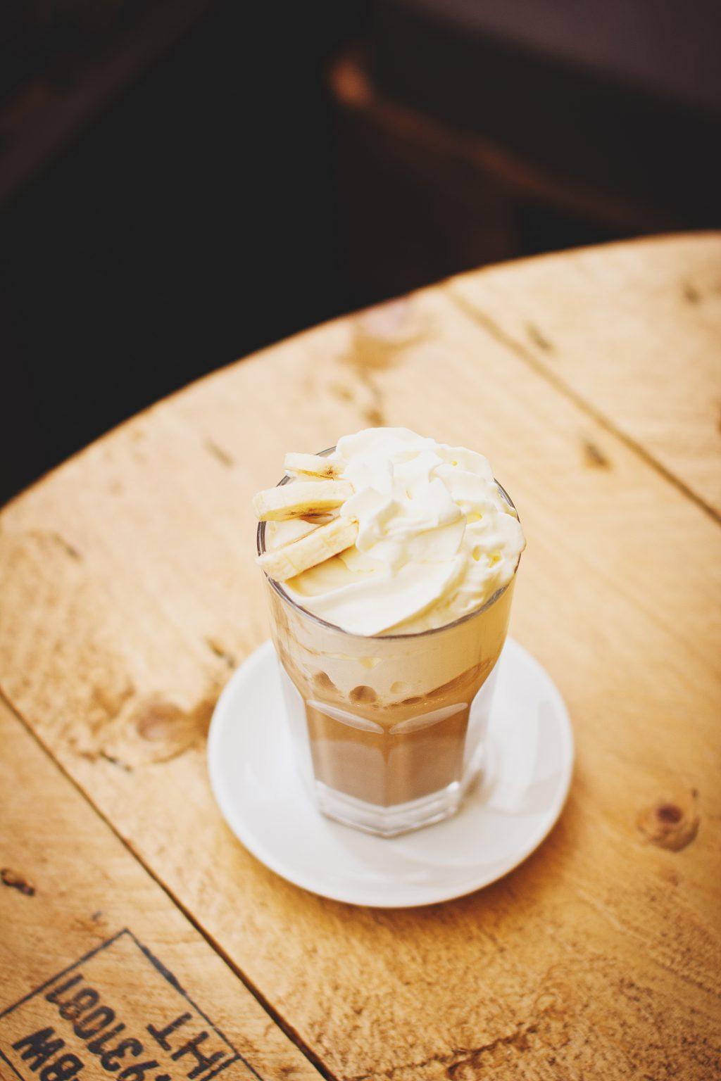 Banana latte - free stock photo
