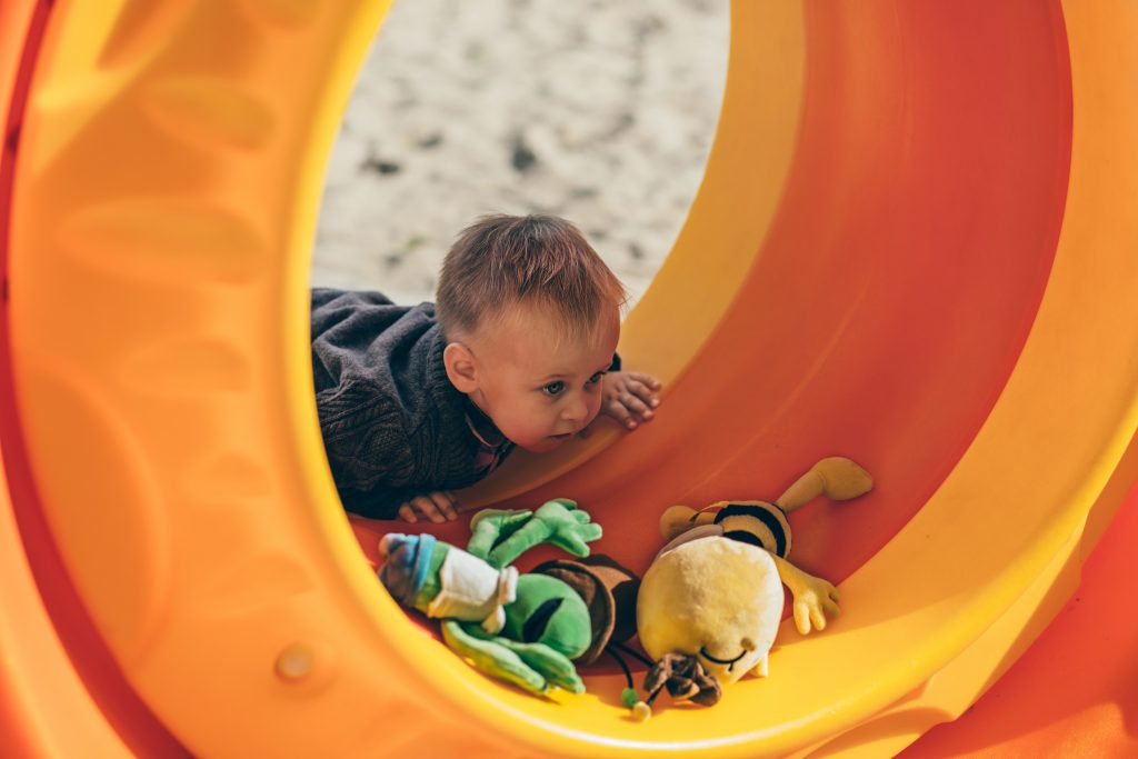 Boy at the playground - free stock photo