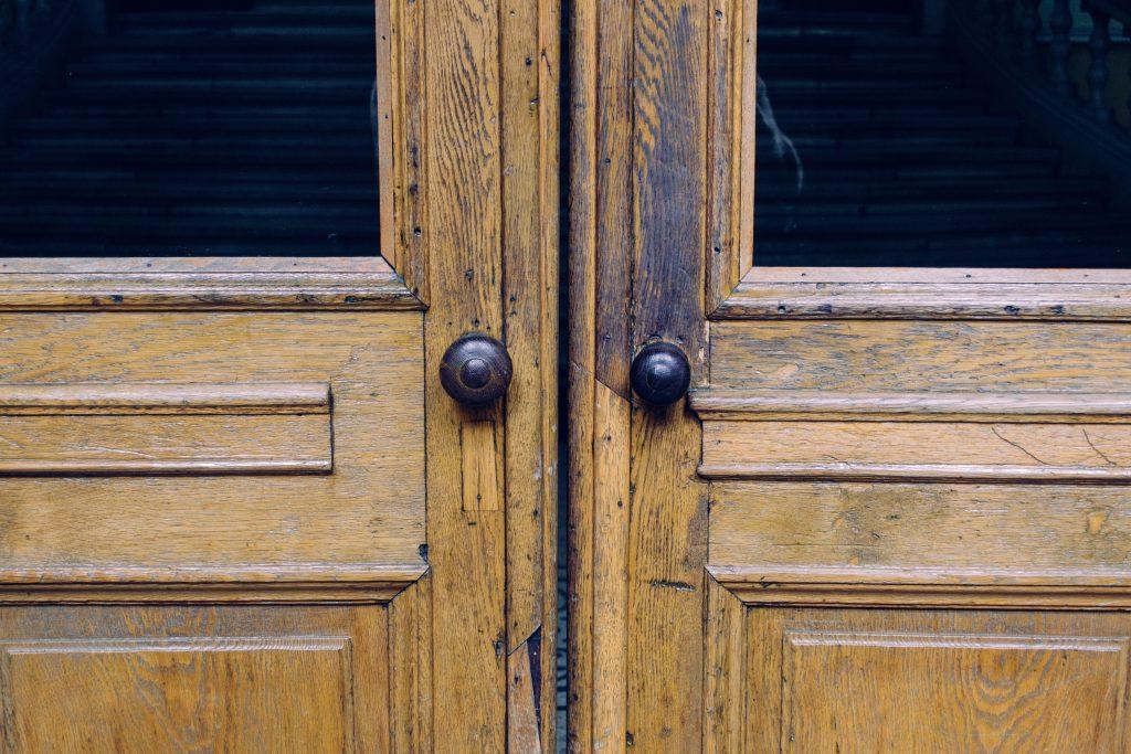 Double wooden doors - free stock photo