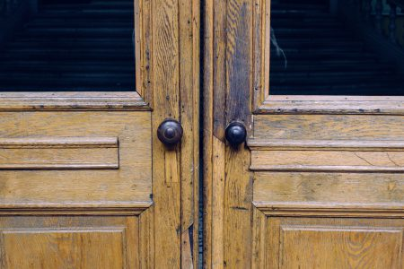 Double wooden doors - free stock photo