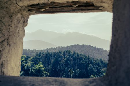 Fortress window view - free stock photo
