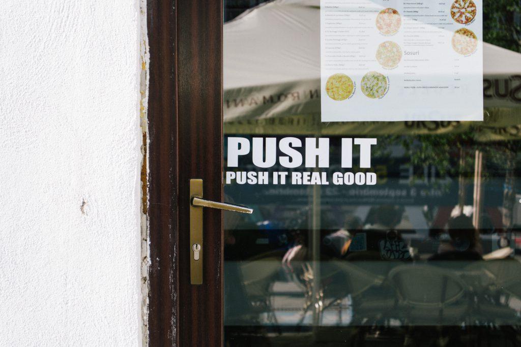 Push it - free stock photo
