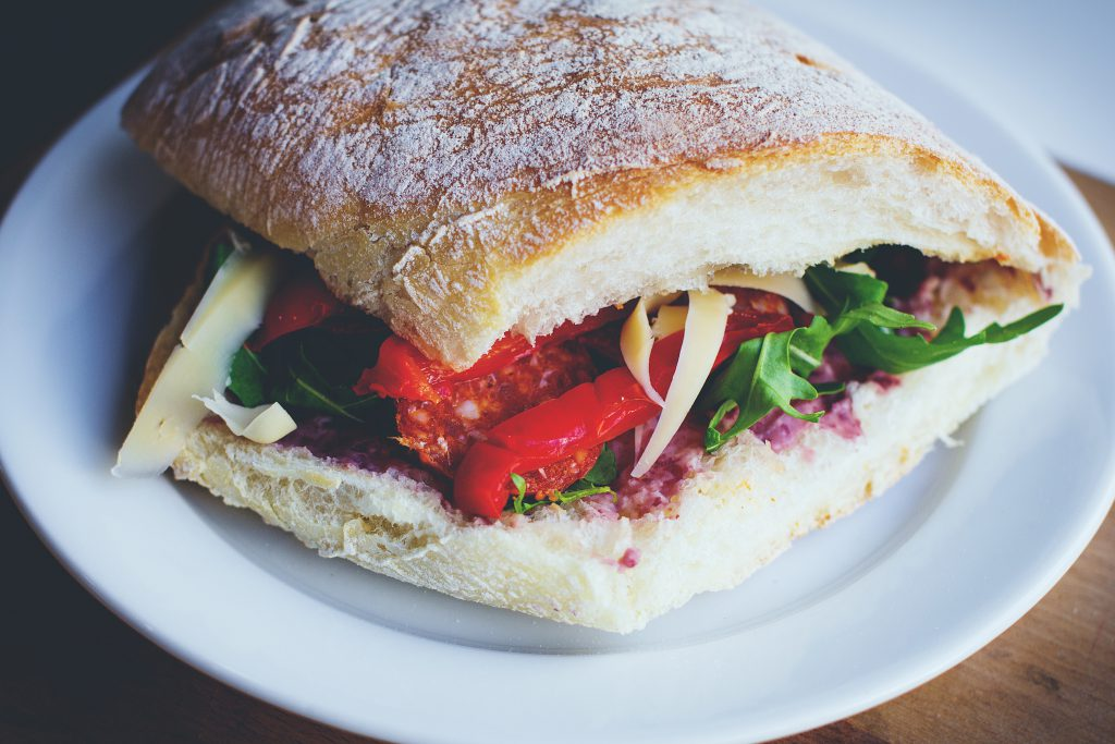 Sandwich on a plate - free stock photo