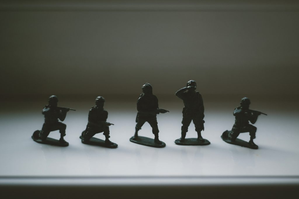 Toy soldiers - free stock photo