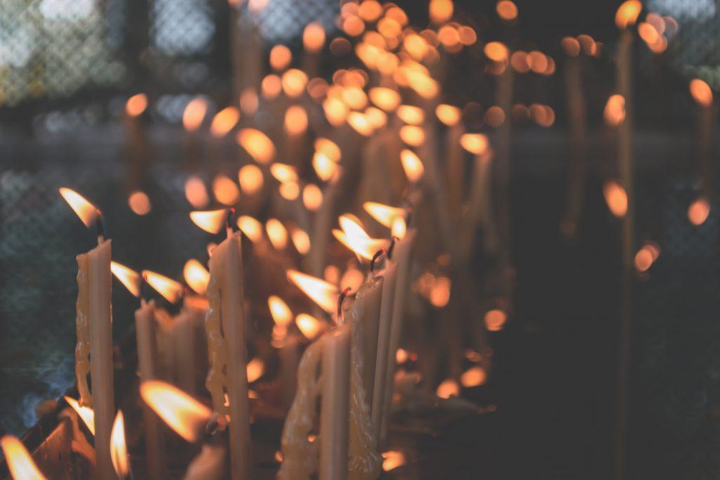 Votive candles 3 - free stock photo
