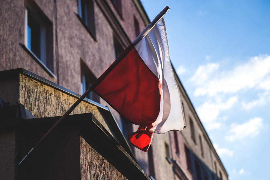 Polish flag 3 - free stock photo