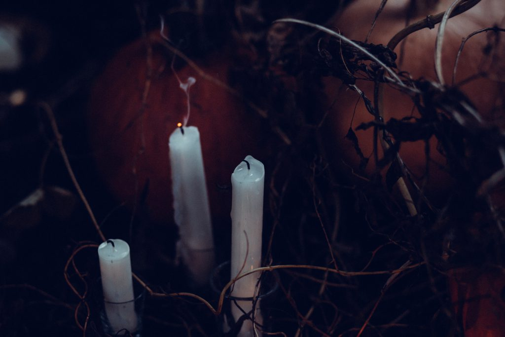 Blown out Halloween candles - free stock photo