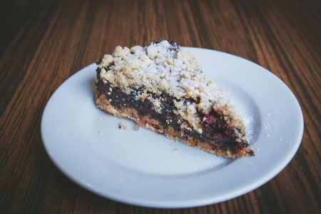 Crumble plum pie 2 - free stock photo