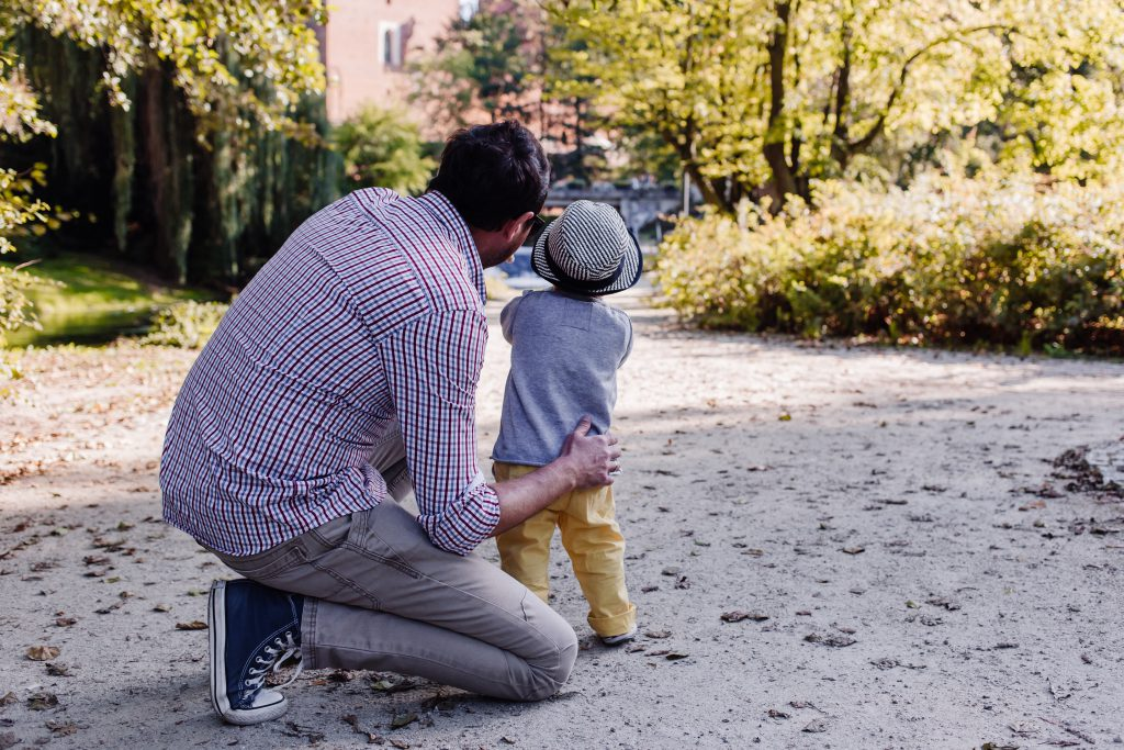 Dad and son in the park - free stock photo