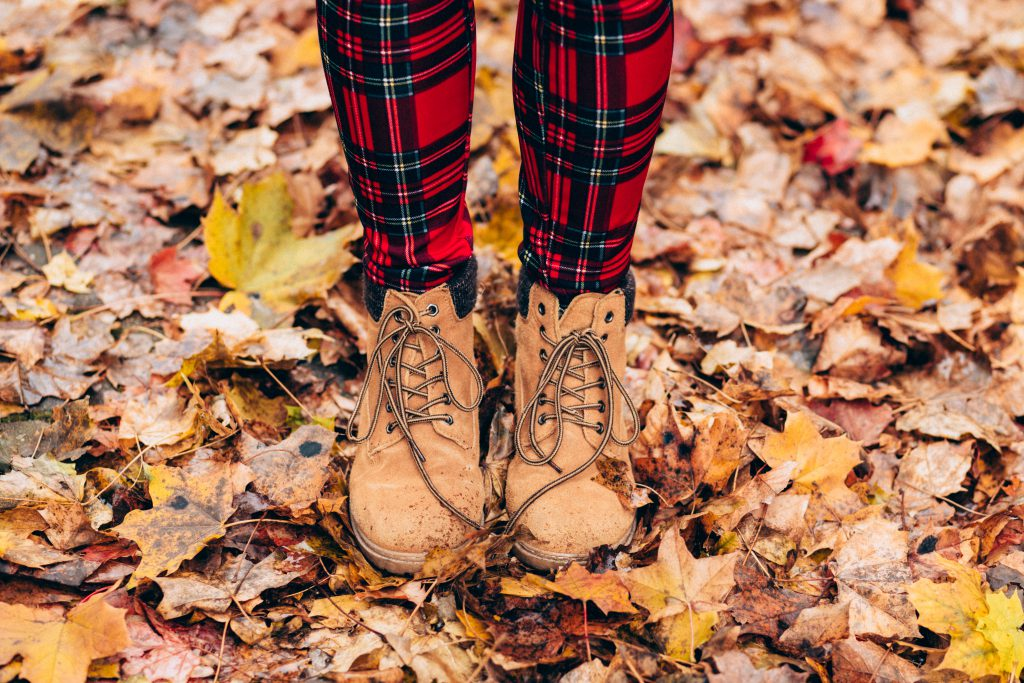Fall lace up boots - free stock photo