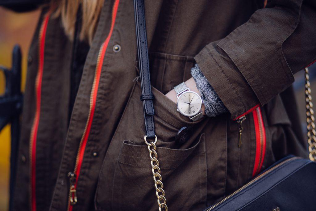 Female silver watch - free stock photo