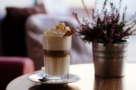 Gingerbread latte - free stock photo