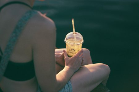 Girl drinking smoothie 2 - free stock photo