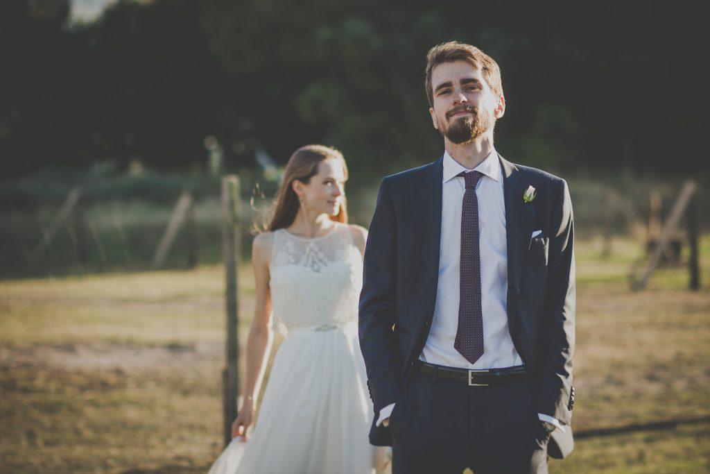 Groom and bride - free stock photo