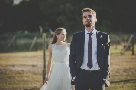 Groom and bride - free stock photo