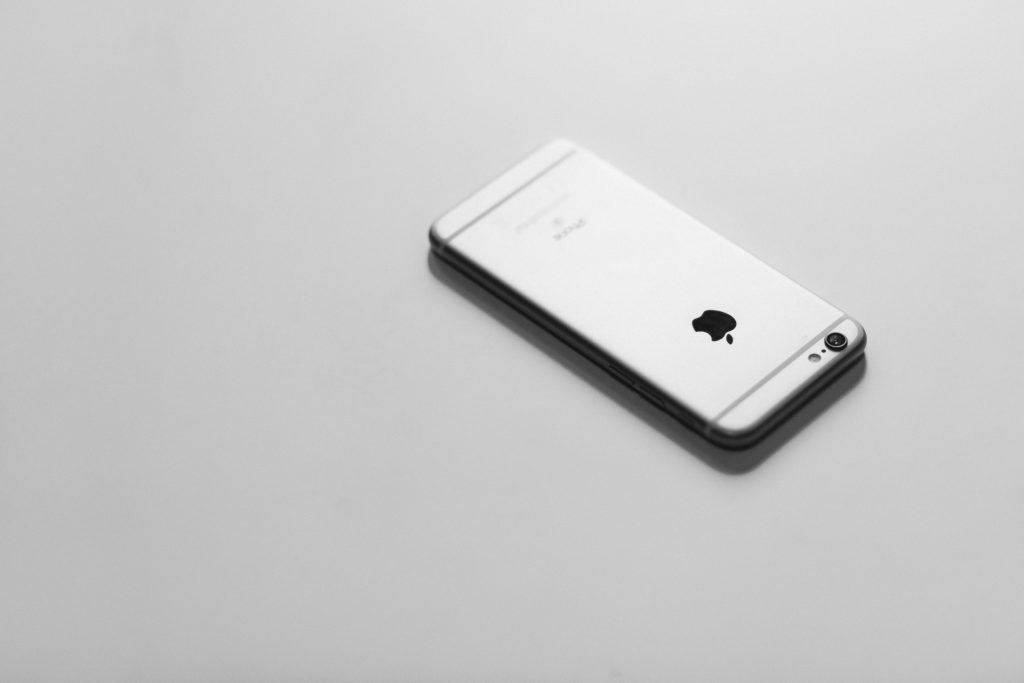 iPhone 6S in black and white - free stock photo