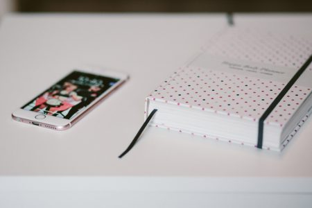 iPhone and planner 2 - free stock photo