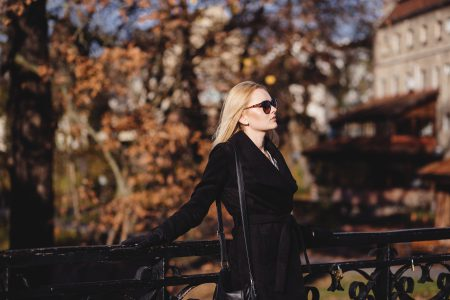 Street style shoot in park - free stock photo